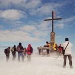 Gipfel Matagalls im Schnee