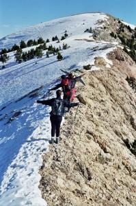 On the top of the Serra d'Ensija