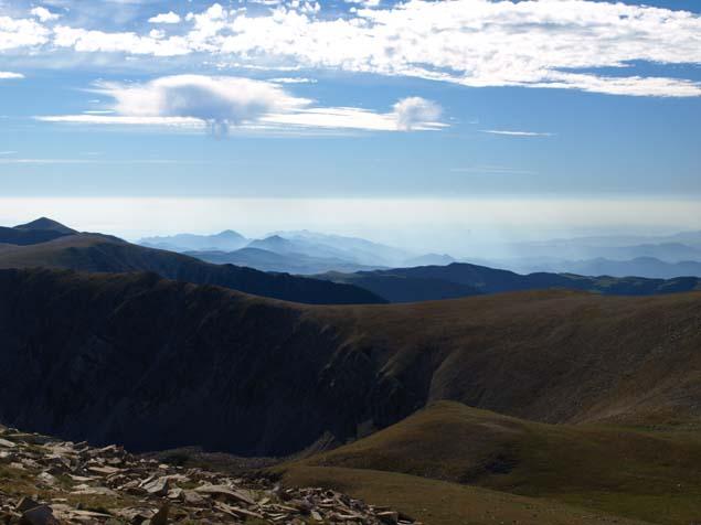 Aussicht aus 2.800 m Höhe