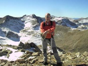 Gipfel Bacivers in den Pyrenäen