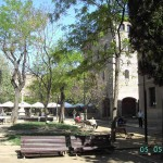 A little square in the center of Barcelona