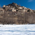 Dorf La Roca im Winter