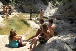 Badestellen am Fluss Sant Aniol