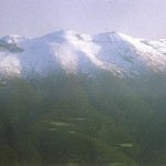 Montseny mountain covered with snow
