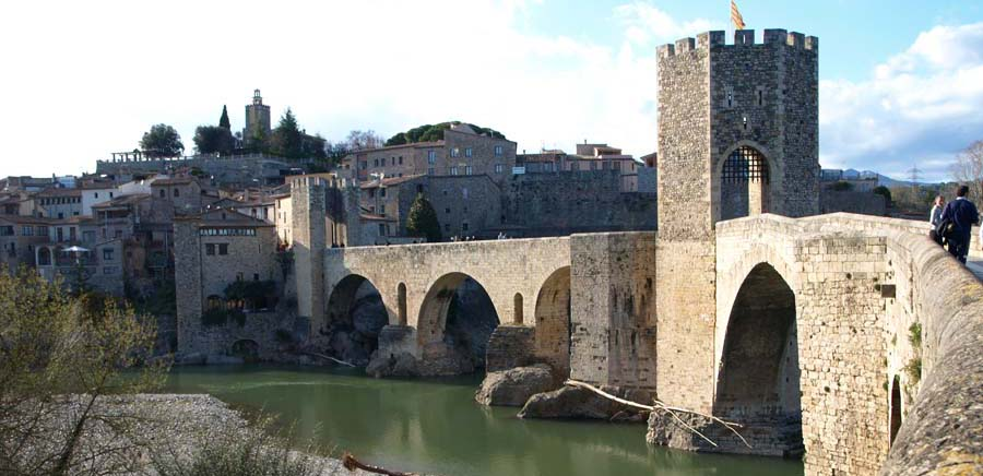 Romanesque bridge in Besalú