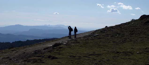 Prächtige Aussichten von dern Höhen des Montseny