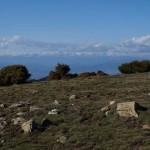 Die Pyrenäen vom Montseny aus gesehen