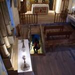 Im Innern der romanischen Kirche Santa Maria de Cardet