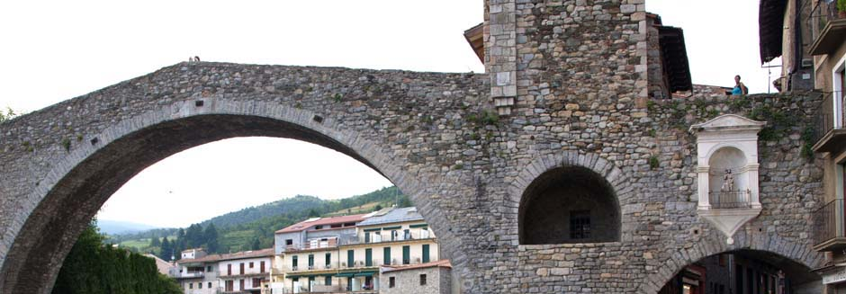 Romanesque bridge in Camprodon, Pyrenees