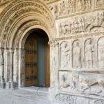 Skulturen am Portal des romanischen Kloster Santa Maria de Ripoll