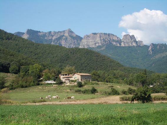 Der Puigsacalm, vom Tal aus gesehen