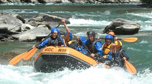 Rafting in the river Noguera Pallaresa