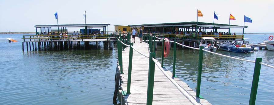 Fischrestaurant am Ebro-Delta