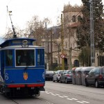 Die Blaue Strassenbahn am Tibidabo