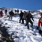 Abstieg im Winter Richtung Núria