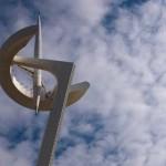 Santiago Calatravas Fernmeldeturm auf dem Montjuic