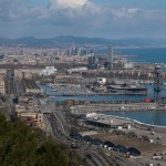 The port of Barcelona seen from Montjuic