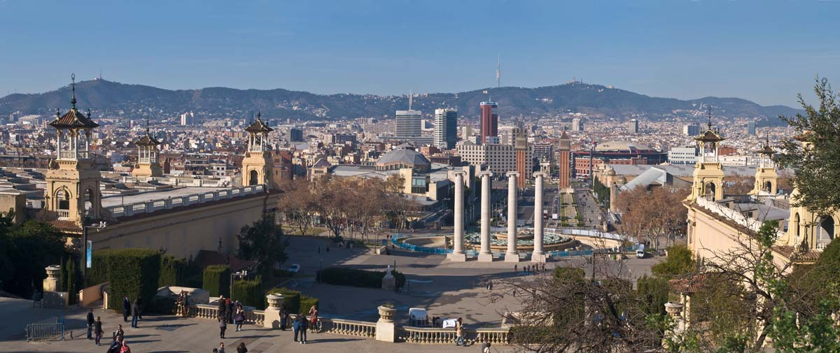 Barcelona seen from the Palau Nacional