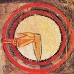 Die Hand Gottes, romanische Apsismalerei von Taüll, im MNAC
