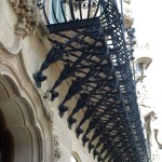 Detail der Fassade des Hauses Casa Ametller