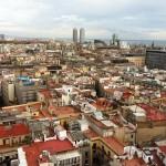 Toller Ausblick auf Barcelona vom Turm von Santa Maria aus