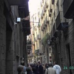 Ambiente en el Barrio Gótico