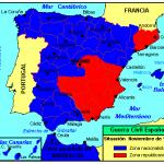 Der Spanische Bügerkrieg 1936 - 1939: Fronten im Dezember 1938.
