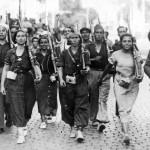 Der Spanische Bügerkrieg 1936 - 1939: Milizen in Barcelona.