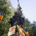 Denkmal an Casanovas, letzter President Kataloniens 1714