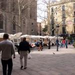 Los fines de semana, mercado de arte en Santa María del Pí