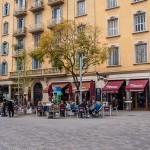 Una plaza en el Barrio de la Ribera