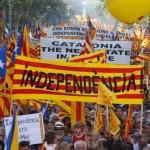 Demo in Barcelona für die Unabhängigkeit Kataloniens