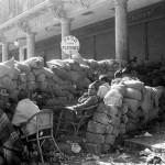 Barrikaden im Sp. Bürgerkrieg